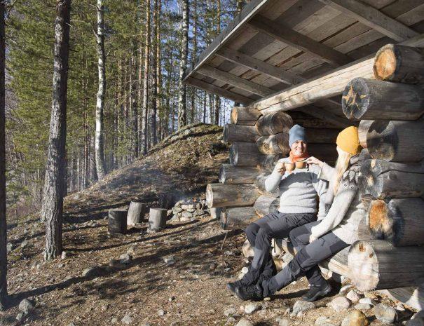 Rental cottage vuokramökki Saimaa nature trail laavu