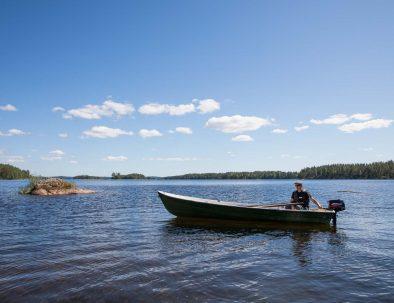 Rental cottage vuokramökki Saimaa motorboat rental vuokravene