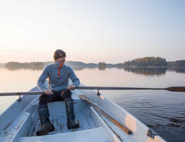 Rental cottage vuokramökki Saimaa rowing soutu